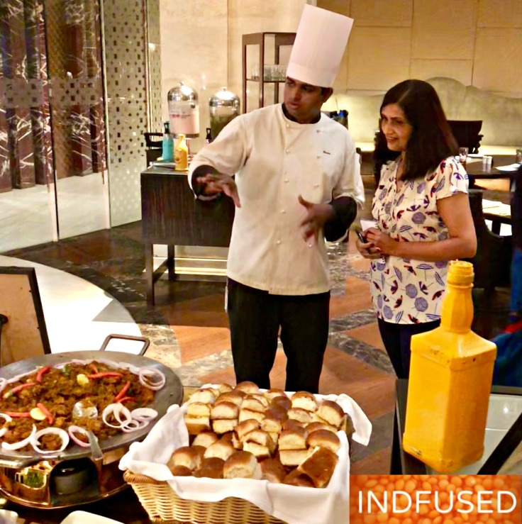 Executive Chef Badri giving me an insight into their thought process behind the Painter's Brunch themed buffet