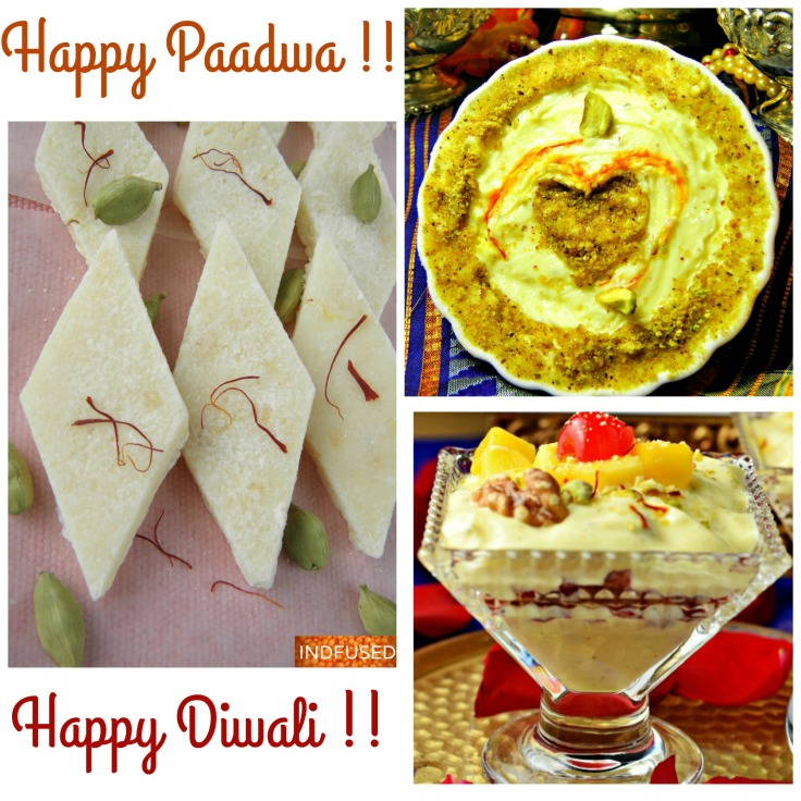 Shrikhand - easy home recipes for Kesar Pista Shrikhand in 30 minutes, Honey Walnut Shrikhand with apple ( no added sugar) and Shrikhand Vadi in 7 minutes.