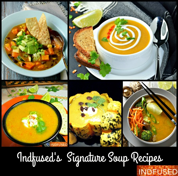 hearty, healthy, nutritious indianfusion soups that are also quick and easy to make