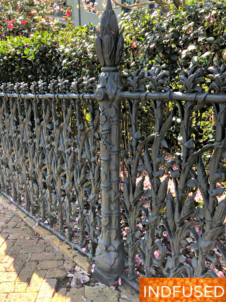 fence detail of Col. Short's Villa