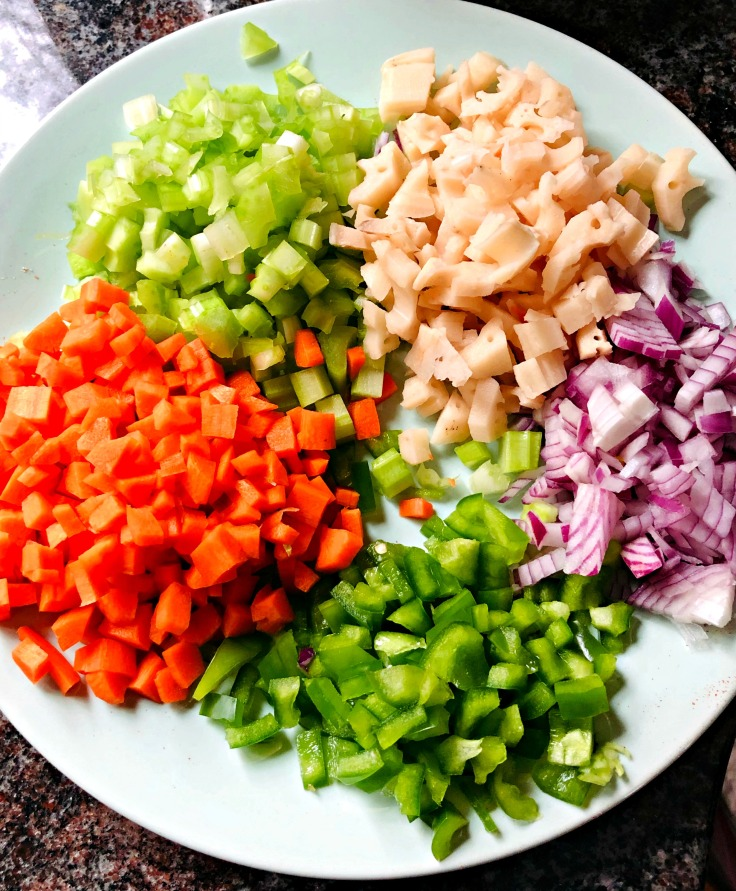 All the veggies prepped!