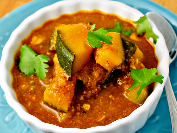 Curried Kabocha Squash Recipe is a bakar bhaji from Maharashtra, India.