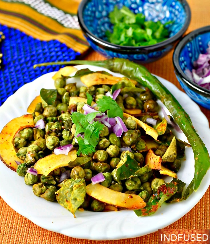 Air Fryer Green Chickpeas- Crispy on the outside and soft on the inside and absolutely moreish!