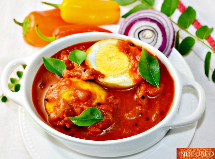 Kerala egg roast is an iconic dish with boiled eggs in a delectable curry. Easy step by step instructions. Serves 2