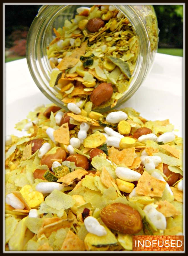 Microwave chivda with Oats and Papad