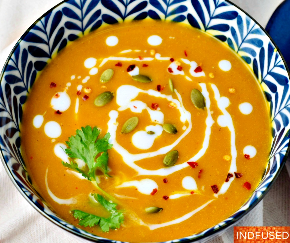 Instant Pot Thai Pumpkin Soup- with turmeric and coconut milk