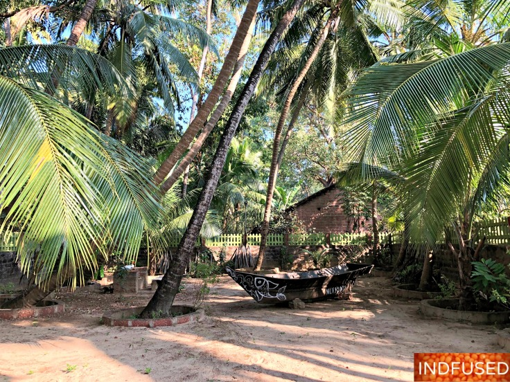 Partial Partial view of our backyard at Sai Homestay in Malvan, India