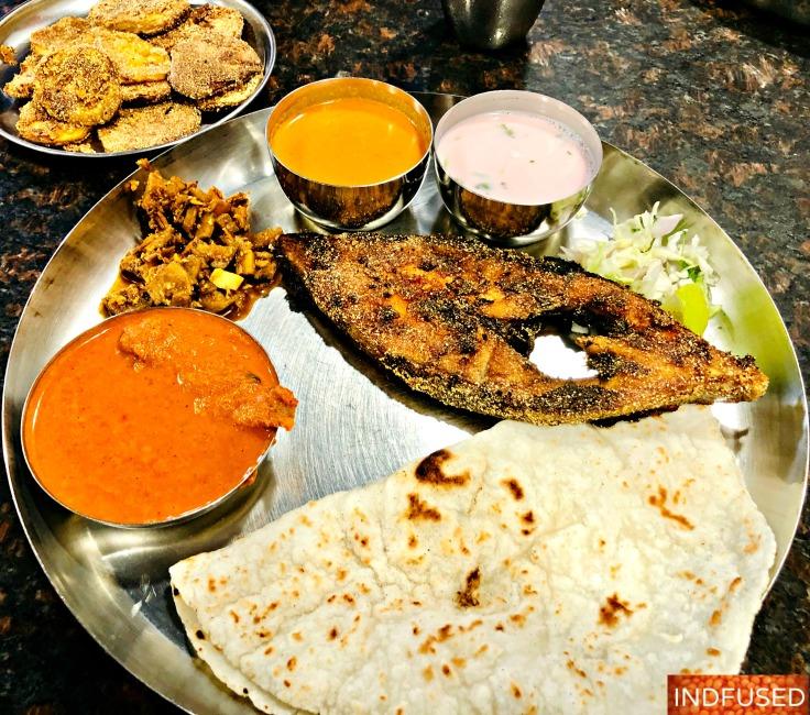 Authentic Malvani fish thali