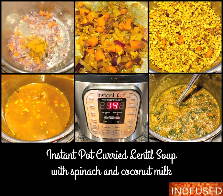 Step by step photos for Curried Lentil Soup with Turmeric and Coconut milk- Instant Pot Recipe