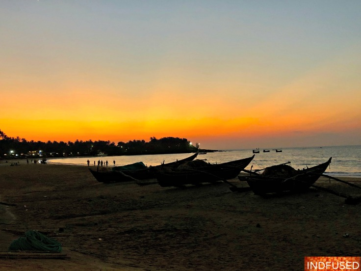 Sunset in Malvan, India