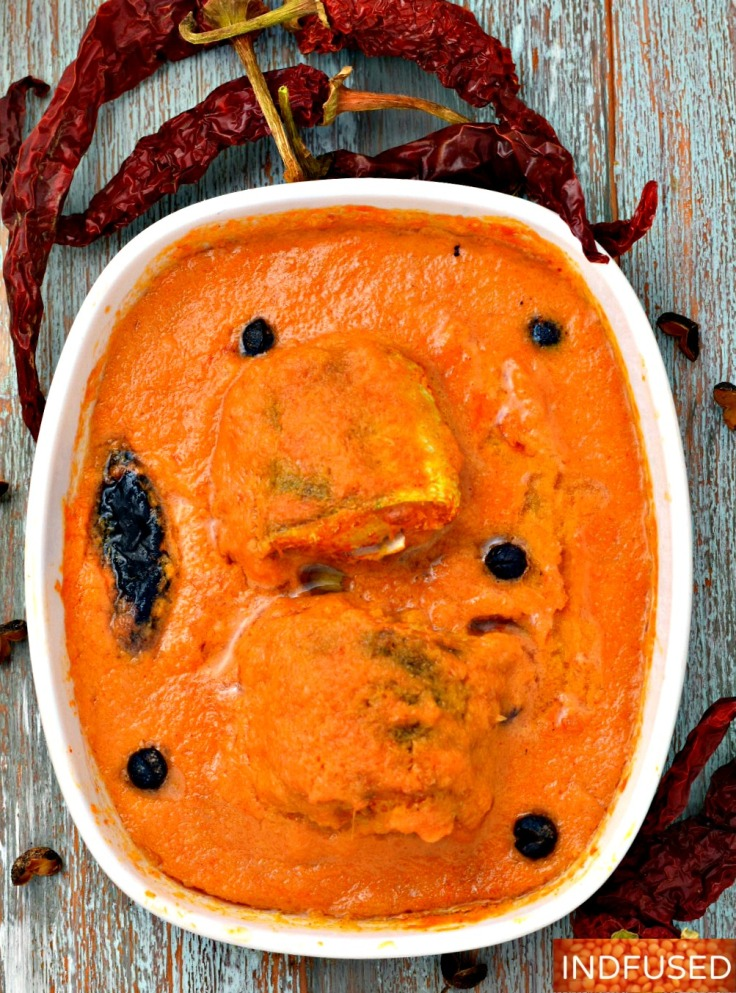 Baked Fish Malvan Style is fish baked in its coconut sauce