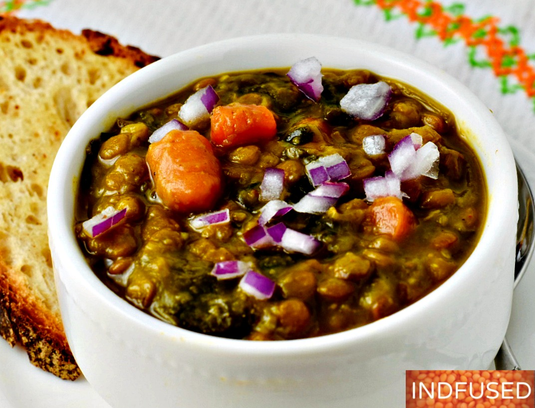 Curried Lentil Soup with Turmeric and Coconut milk- Instant Pot Recipe