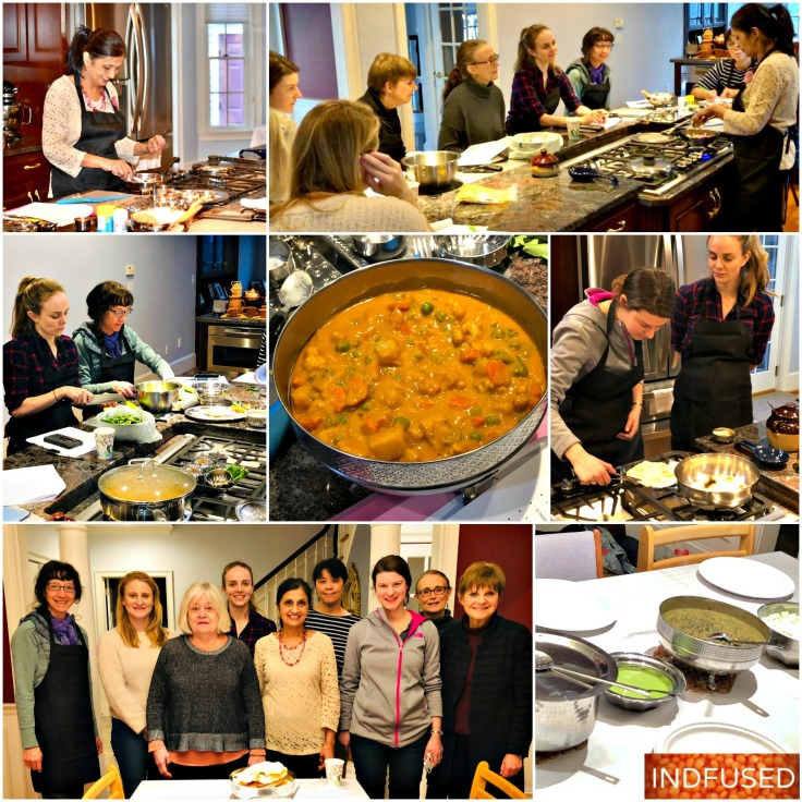 Enjoyed another engaging, informative and fun Indian Vegetarian Cooking class!