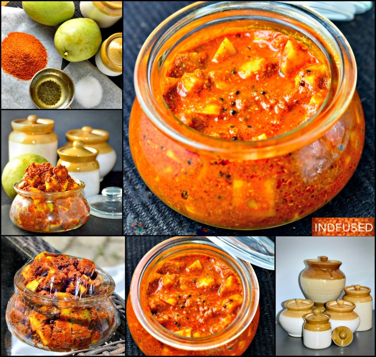 Raw Mango Pickle- This recipe for the freshly made pickle is one of the most favorite condiment that complements any Indian meal!
